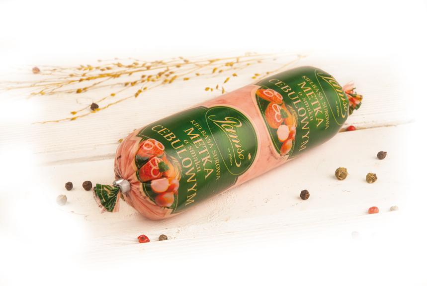 Kiełbasa surowa metka o smaku cebulowym
